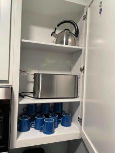 Mugs and Toaster
